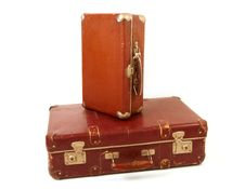 Two Old Suitcases Royalty Free Stock Images