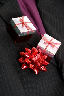 Free Business Suits With Ribbon Stock Photography - 14680322