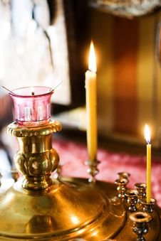 Free Candles In Church Stock Photo - 14680390