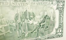 Free The Back Party Of  Two Dollar Bill Royalty Free Stock Image - 14680736