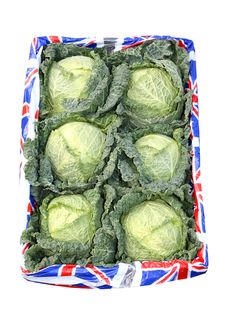 Free Box Of Cabbages Stock Photo - 14680980