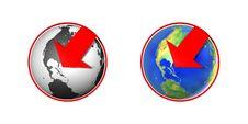 Free Globe With Arrow Stock Photo - 14683130