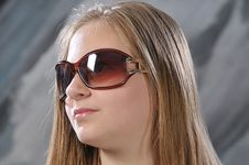 Free Girl Is In Sun Glasses Royalty Free Stock Photos - 14683728