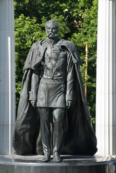 Moscow. Statue To The Alexander II Royalty Free Stock Photo
