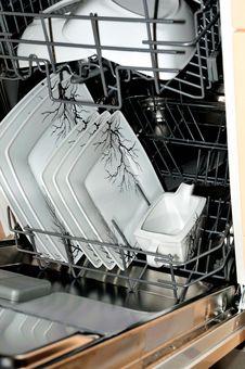 Open Dishwasher Stock Photography