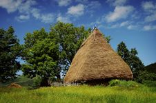 Old Farmer S Wooden House In Transylvania Stock Photography