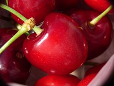 Free Cherries Closeup Royalty Free Stock Images - 14688299