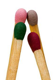 Free Four Multi-coloured Matches Royalty Free Stock Photo - 14688705