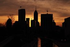 Free City Silhouette Stock Images - 14689094