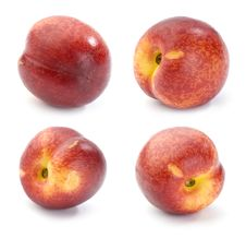 Nectarines, Set Of Images Royalty Free Stock Images
