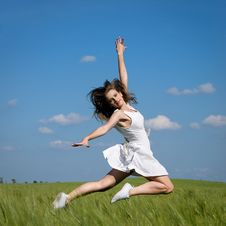 Free Girl In Field Stock Photography - 14689262
