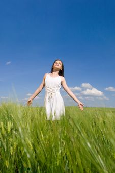 Free Girl In Field Stock Images - 14689264