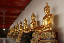 Free Golden Buddhas Royalty Free Stock Photography - 14689267