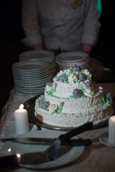 Free Wedding Cake Served Royalty Free Stock Image - 14689376