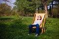 Free Girl In Garden Stock Images - 14693754