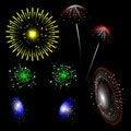 Free Colorful Fireworks - Set Stock Photo - 14694460