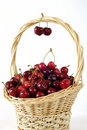 Free Basket With Cherries Stock Image - 14698121