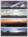 Free Four Different Fantasy Landscapes For Banner, Royalty Free Stock Image - 14698716