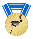 Free Medal With Pupils Hats And Feather An Ink Royalty Free Stock Images - 14699899