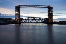 Old Bridge In Cleveland Royalty Free Stock Image