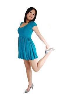 Free Young Asian Girl In Dress. Royalty Free Stock Photography - 14690747