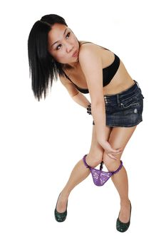 Free Chinese Girl Loosing Her Panties. Royalty Free Stock Photography - 14690767
