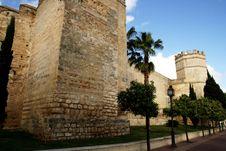The Alcazar Medieval Moorish Walls In Jerez Stock Image