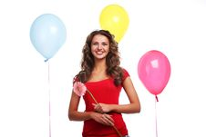 Free Woman And Balloons Stock Photography - 14691302