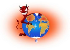 Global Warming Devil Royalty Free Stock Images