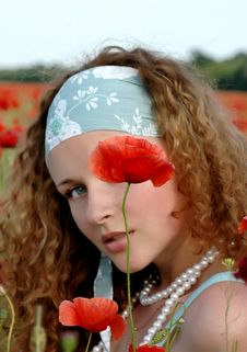 Free Girl With A Poppy Stock Photos - 14693023
