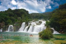 Free Waterfall In The National Park Krka Stock Photos - 14693243