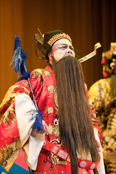Free China Opera Man With Black Beard Royalty Free Stock Image - 14693336