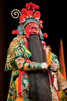 Free China Opera Man Red Face Royalty Free Stock Images - 14693359