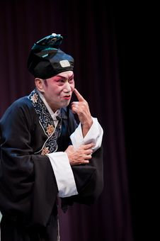 Free China Opera Scholar Pointing To His Nose Stock Photography - 14693372