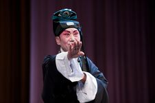 Free China Opera Scholar In Black Stock Photos - 14693373