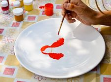 Free Painting On A Plate Royalty Free Stock Image - 14693396