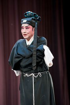 Free China Opera Scholar With Hat Royalty Free Stock Images - 14693399