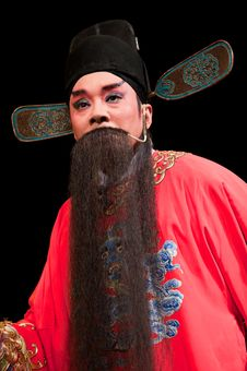 China Opera Man In Red Royalty Free Stock Images