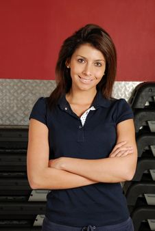 Free Woman Trainer In The Gym Stock Photos - 14693933