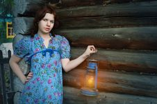 Free Beauty Woman In Vintage Dress Stock Photography - 14694532