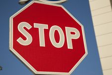 Free Red Stop Sign Royalty Free Stock Image - 14694596