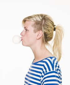 Free Girl With Bubble Gum Royalty Free Stock Photography - 14694857