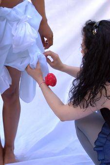 Free Adjustments On Skirt Royalty Free Stock Image - 14694956
