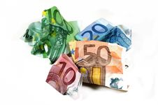 Free Wrinkled Euro Currency Royalty Free Stock Photos - 14695358