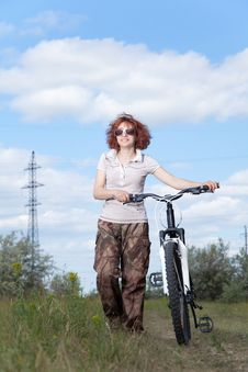 Free Woman Riding Bike Stock Photo - 14695810