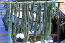 Free Fishing Nets Drying Royalty Free Stock Images - 14696239