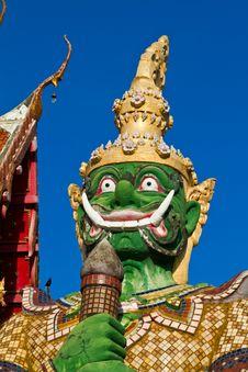 Thai Temple With Giant Royalty Free Stock Photos