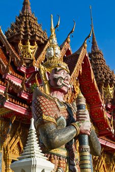 Thai Temple With Giant Royalty Free Stock Photo
