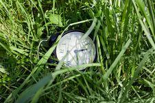 Free Alarm Clock On The Grass Stock Photo - 14698260