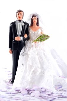 Free Bride And Groom Dolls Royalty Free Stock Photos - 14699098